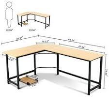 Metal L Shaped Desk Tribesigns Modern L Shaped Desk Corner Computer Desk Pc Latop