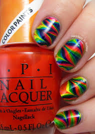 water marble nail art with opi colorpaints adventures in acetone