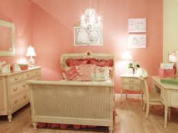 Beautiful Paint Colours For Bedrooms Salmon Pink Paint Color And Chandelier For Pretty Bedroom