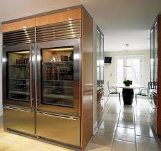 chicago see through refrigerators kitchen industrial with
