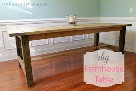 Simple Dining Table Plans Diy Farmhouse Table For Less Than 100 The Turquoise Home