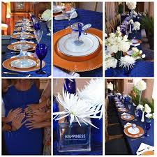 Themes Baby Shower Royal Blue And Gold Baby Shower Centerpieces