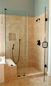 Shower Stalls With Glass Doors Glass Shower Stall With Single Door Plus Black Handler Combined