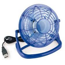 petit ventilateur de bureau mumbi mini ventilateur usb fan de bureau bleu ordinateur