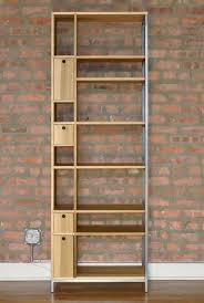 Reclaimed Wood And Metal Bookcase Reclaimed Wood Bookcase Chicago Thesecretconsul Com