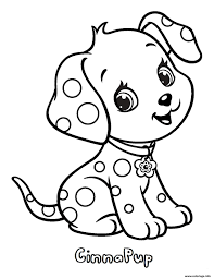 Coloriage chien cinnapup fraisinette animaux  JeColoriecom