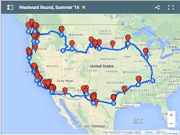 United States Road Trip Map by Road Trips U2013 Vegan Fernweh