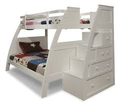 white bunk beds twin over twin with stairs home design ideas