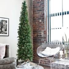 classic pine pre lit pencil tree artificial