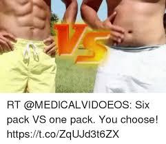 Six Picture Meme Maker - rt six pack vs one pack you choose httpstcozqujd3t6zx meme on me me