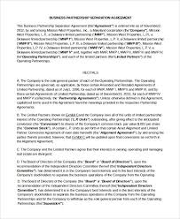 business separation agreement template hitecauto us