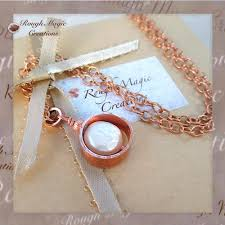solid copper necklace images White coin pearl and copper pendant on adjustable chain necklace jpg