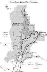 Grand Teton Map Teton Photomap Pro