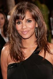 of halle berry long dark brown hairstyles