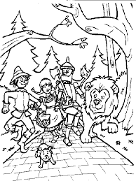 Wizard Of Oz Coloring Pages Cartoon Coloringstar Wizard Of Oz Coloring Pages