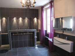 salle de bain aubergine et gris beautiful salle de bain photo photos home decorating ideas