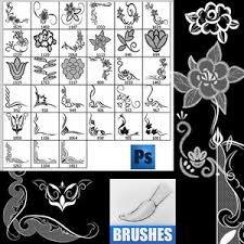 floral ornament frames photoshop brushes photoshop brushes free