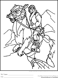 star wars coloring pages tauntaun ginormasource kids