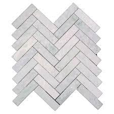 Marble Mosaic Tile Beltile Ming Green Marble Herringbone Mosaic 1 X 4 Beltile