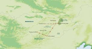 Mongolia Map Itinerary Cultural Mongolia With The Naadam Festival July 2017