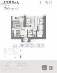 Wyndham La Belle Maison Floor Plans by 2 Bedroom Apartment For Sale In Forte Downtown Burj Dubai Dubai