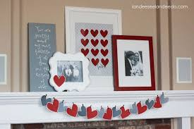 Valentine Home Decor Decorations Valentine U0027s Day Home Decorations On White Fireplace