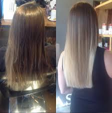 wash hair after balayage highlights blonde before after balayage highlights tony shamas hair laser salon