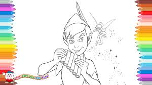 coloring pages disney u0027s peter pan u0026 tinkerbell 47 youtube
