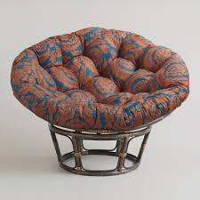 furniture dark rattan frame papasan chair target with decorative