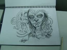 sugar skull by terrzwhitfield on deviantart