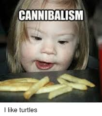 I Like Turtles Meme - cannibalism i like turtles im going to hell for this meme on me me