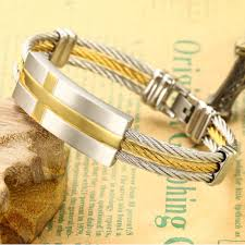 cross bracelet charm images Bracelet bangle stainless steel rope bracelet charm gold bangle jpg