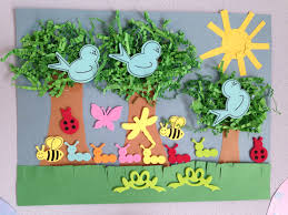 spring tree craft forest craft preschool craft kids crafts