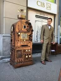 steampunk style atms cash machine