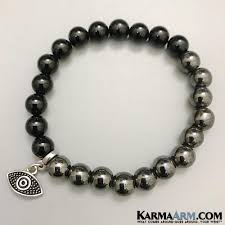 black onyx charm bracelet images Yoga bracelets protection hematite onyx evil eye reiki jewelry jpg