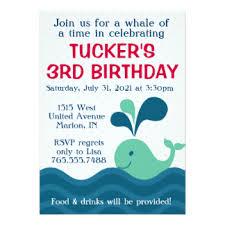 third birthday invitations u0026 announcements zazzle