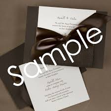 Wedding Pocket Invitations Chocolate Cream Wedding Pocket Invitation Sample Little Flamingo