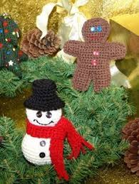 free pattern make four adorable decorations for your tree