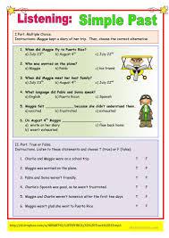 listening simple past exercise worksheet free esl printable