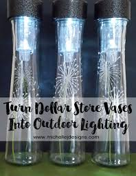 Dollar Store Cylinder Vases Dollar Store Vases To Outdoor Lighting