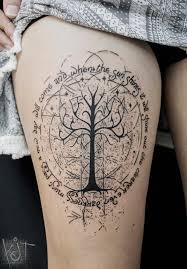 koit tattoo berlin white tree of gondor theme with quotes black
