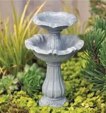 amazon com miniature fairy garden double birdbath fairy garden