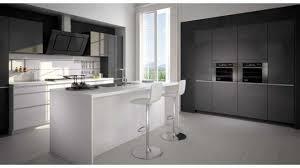 cuisine blanc laqué cuisine blanc laque et bois maison design bahbe com