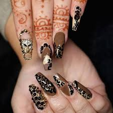Nail Designs Cheetah Nails Awesome Cheetah Print Nail Design Fashion Nails 2018