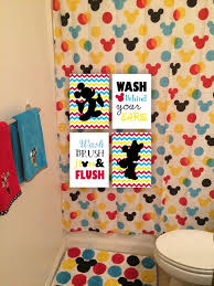 mickey mouse bathroom ideas set of 4 5x7 mickey mouse and minnie mouse bathroom wall wash