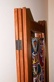 Folding Screens Room Dividers by Room Divider Folding Screen Made Of Wood And Dutch Wax Fabric