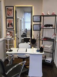 Hair Salon Interiors Best Accessories Best 25 Nail Station Ideas On Pinterest Nail Studio Manicure