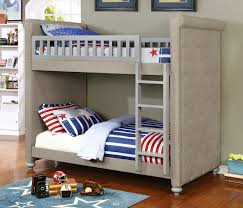 Sascha Gray TwinTwin Bunk Bed W Button Tufted Sides - Living spaces bunk beds