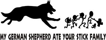 my german shepherd ate your stick family car decal sticker zoom
