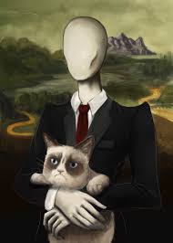 mona cat grumpy mona slender by daeris art on deviantart